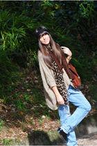 Zara jeans - Zara scarf - vintage bag - pull&bear sweater