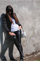 Purificacion Garcia jacket - black Music Collection pants - white Bimba&Lola pur