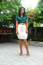 The Weekender top - Blanc Et Noir skirt - Janylin shoes - belt