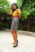 top - belt - Blanc Et Noir skirt - Syrup shoes