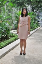 black Janylin shoes - peach chiffon SM dress