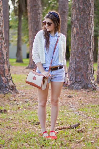 light blue denim Forever 21 shirt - coral Urban Outfitters flats