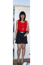 Gap top - typical star shorts - Target shoes - supre belt