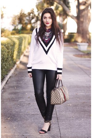 white Nasty Gal sweater