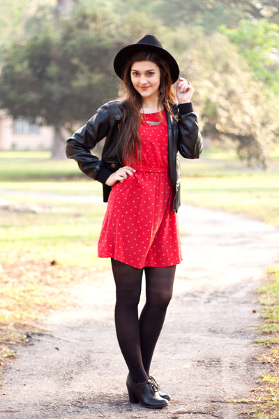Ruby Red Forever 21 Dresses- Black Faux Leather Windsor Jackets ...