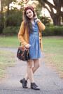 Mustard-knit-forever-21-cardigan