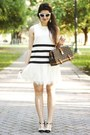 White-lace-forever-21-dress-dark-brown-louis-vuitton-bag