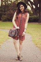 maroon Forever 21 dress