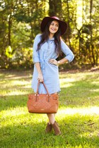 light blue Boohoo dress