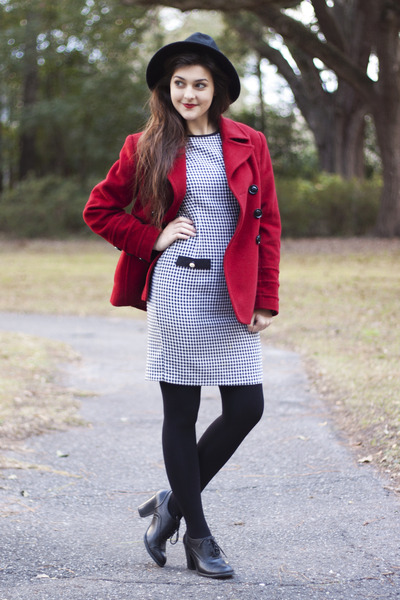 red JCPenney coat