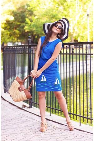 sky blue synergy clothing dress