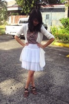 skirt - blouse - jacket - shoes