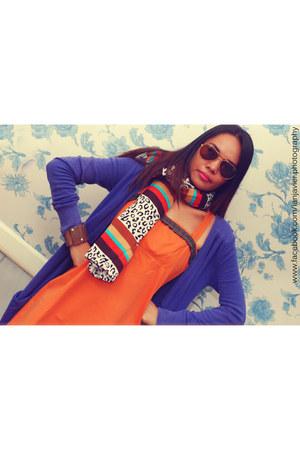 Freeway dress - Gaisano South scarf - Topshop cardigan - Janylin flats
