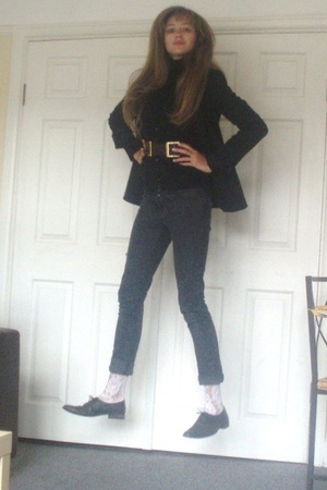 French Connection blazer - Primark vest - Primark jeans - Ebay socks