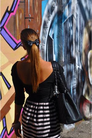 Zara dress - Chanel bag - disney couture bracelet