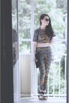 handmade leggings - handmade blouse