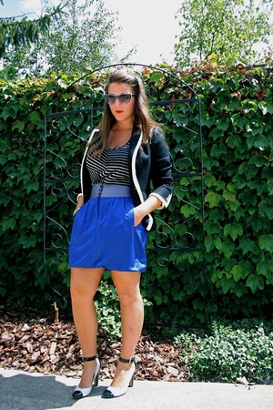 Jcrew blazer - Target top - Target skirt - shoe mega shop shoes
