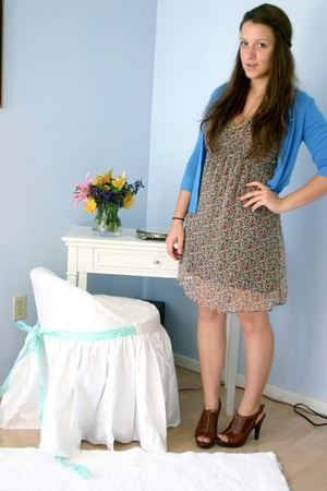 H&M dress - Jcrew sweater - Steve Madden shoes