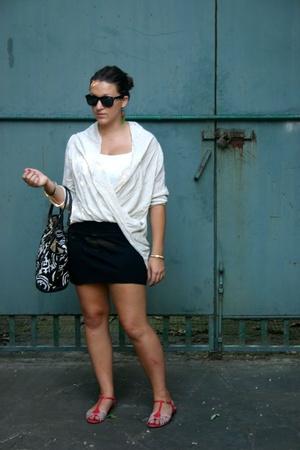 top - aa skirt - NaNa shoes - Jcrew purse