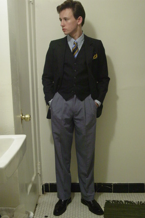 Yves Saint-Laurent suit - liz claiborne pants - N Peal Burlington Arcade London