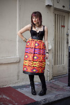 tribal print vintage saks fifth skirt skirt