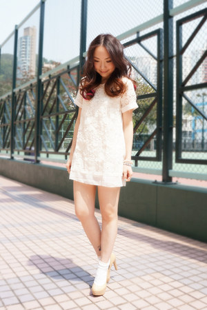 white floral dress beckybwardrobe dress
