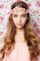 pink rose crown beckybwardrobe accessories