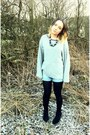 Vintage-denim-shorts-george-asda-suede-wedges-topshop-fine-knit-jumper-ma