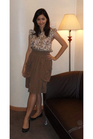 cotton Zara skirt - silk Zara top
