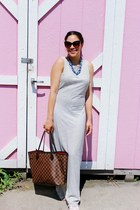 American Apparel dress - Louis Vuitton bag - American Apparel flats