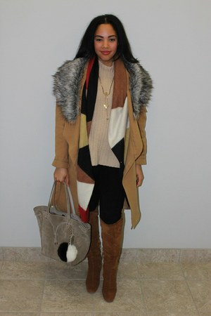 Bar III pants - leather boots Zara boots - Ralph Lauren bag - Bar III top