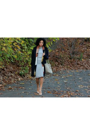 Zara jacket - Pour La Victoire shoes - Bar III dress - Zara scarf