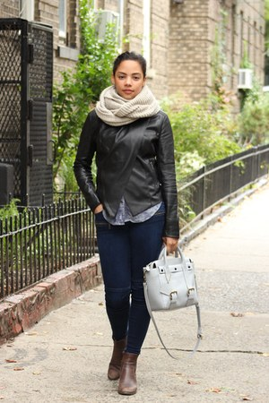black jacket - neutral Accessorize scarf