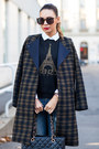 Navy-plaid-h-m-coat-white-topshop-shirt-black-chanel-bag