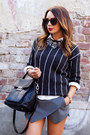 Black-michael-kors-bag-dark-gray-mango-sweater-white-topshop-shirt