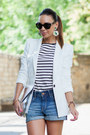 White-tailored-zara-blazer-silver-silver-clutch-choies-bag