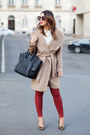 Camel-zara-coat-black-celine-bag-ruby-red-zara-pants