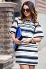 Silver-zara-necklace-white-h-m-trend-dress-blue-zara-heels