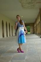 white vintage skirt - purple melissa for vivienne westwood shoes