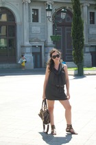 Zara dress - Zara belt - Zara shoes - balenciaga purse - Valentino sunglasses