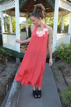 salmon silk Witchery dress
