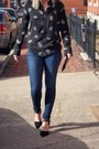 Navy-rag-bone-jeans-black-charles-jourdan-pumps-black-equipment-blouse