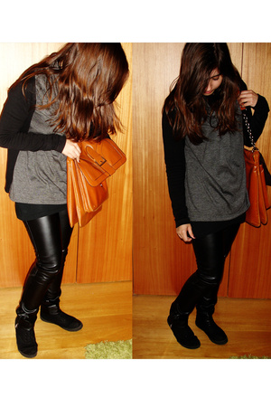 H&M shirt - Zara pants - Urban Outfitters purse - pull&bear coat