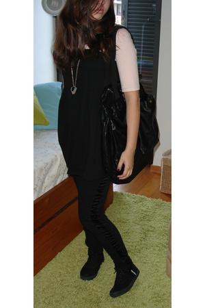 H&M dress - H&M necklace - H&M purse - SANDRO pants