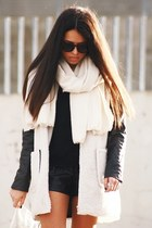 Lookbook Store coat - Zara shoes - H&M scarf - Lookbook Store bag - Ebay shorts
