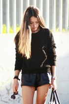 casio watch - Zara shoes - Celine bag - Ebay shorts - pull&bear sunglasses