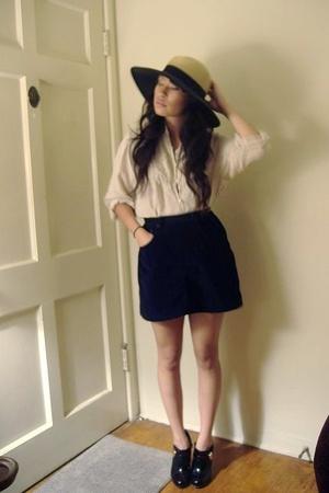 forever 21 hat - blouse - skirt - forever 21 shoes