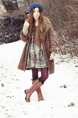 second hand dress - second hand coat - second hand jumper