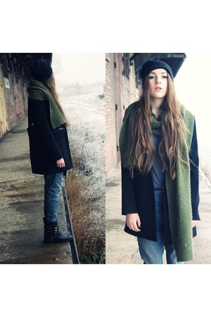 Zara boots - Zara jeans - pullandbear cardigan