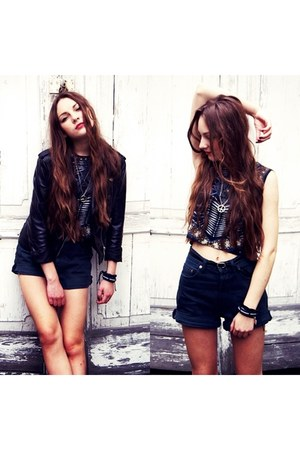H&M jacket - jeans SH shorts - SH top